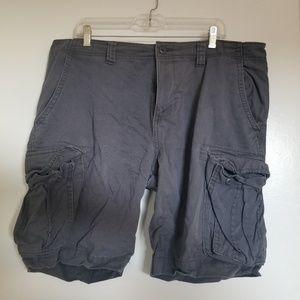 Men's blue cargo shorts